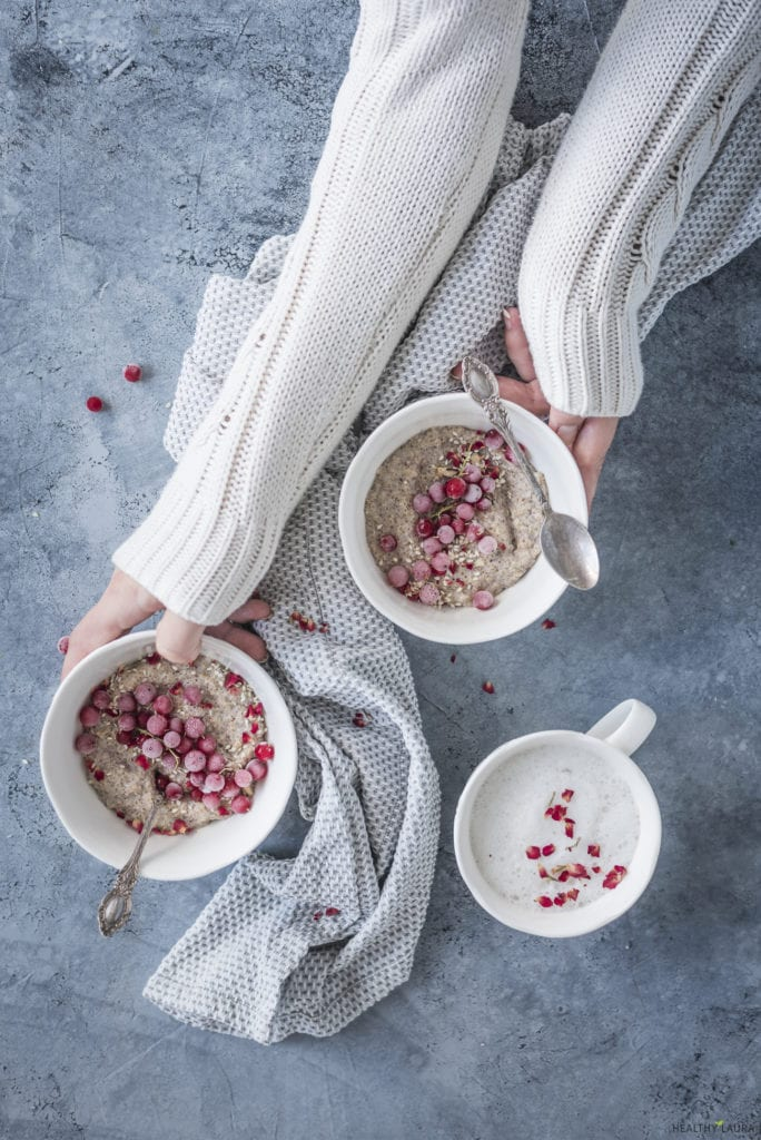 Quinoa Porridge Breakfast Bowl by Healthy Laura Food Photography & Styling. My camera gear for food blogging.