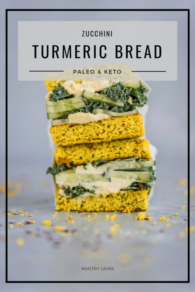 Healthy Laura Keto Almond Flour Bread by HealthyLaura Food Photography. Instagram @healthylauracom turmeric Bread recipe, easy coconut bread, dairy free recipes keto, quick flatbread, easy keto bread, paleo quick turmeric bread. #ketopaleo #paleoketobread #ketoturmericbread #turmericbread