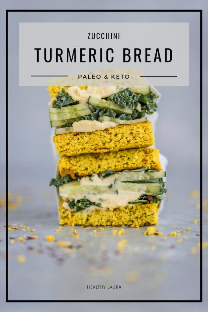 Healthy Laura Keto Almond Flour Bread by HealthyLaura Food Photography. Instagram @healthylauracom turmeric Bread recipe, easy coconut bread, dairy free recipes keto, quick flatbread, easy keto bread, paleo quick turmeric bread. #ketopaleo #paleoketobread #ketoturmericbread #turmericbread