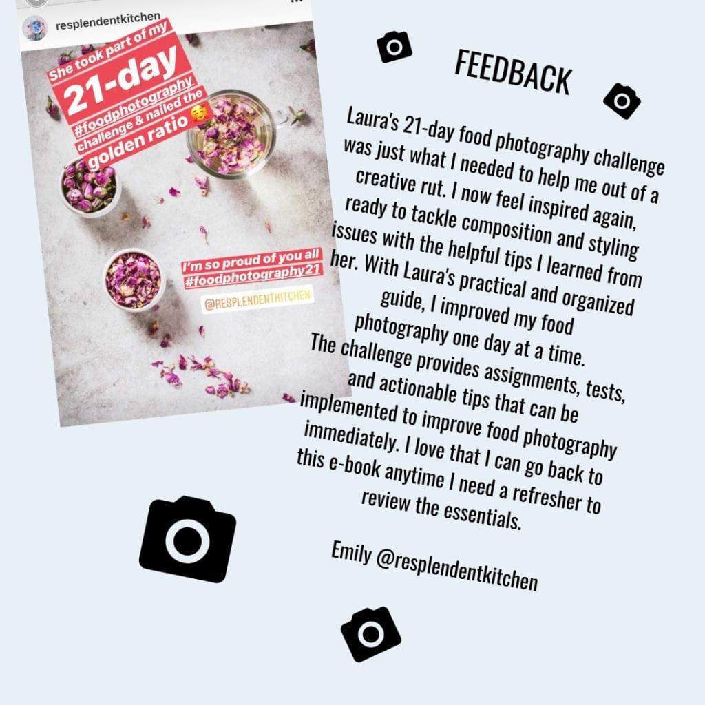 Food photography feedback - 21-day challenge Food photography eBook by Healthy Laura Food Photographer
