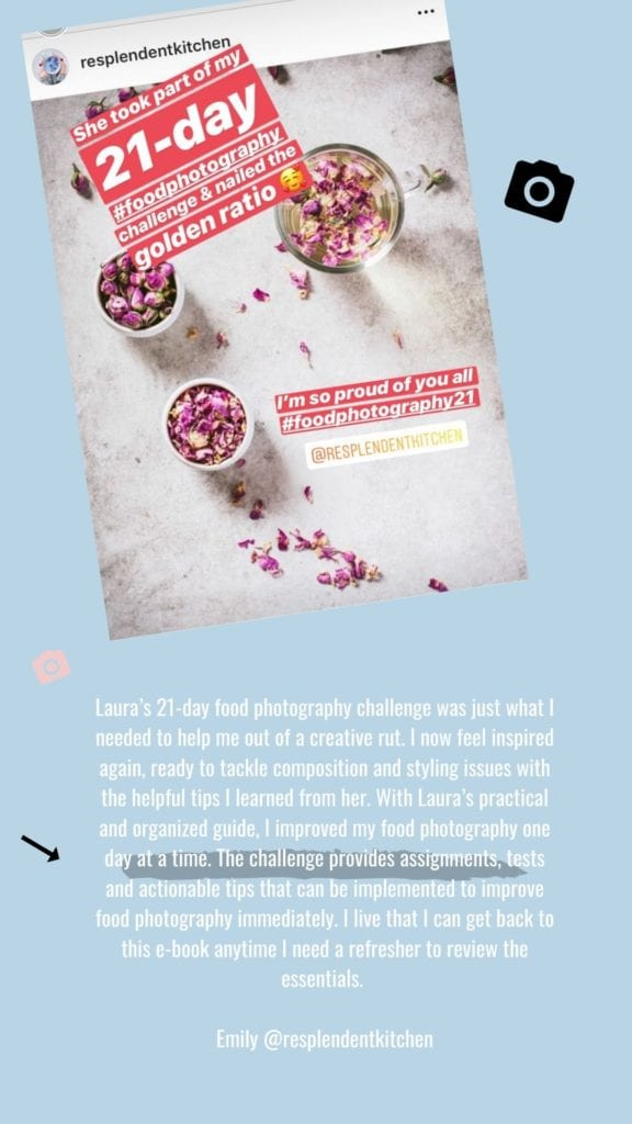 Reviews for Learn food photography 21-day challenge by Healthy Laura Food Photography & Styling @healthylauracom .jpg2